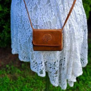 Vintage cross body wallet bag